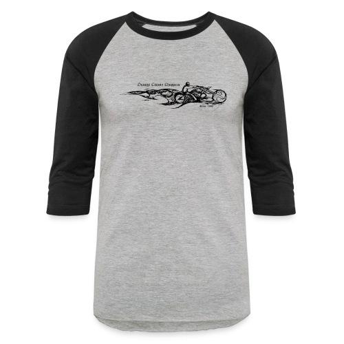 Sketch Rider Front - Baseball T-Shirt