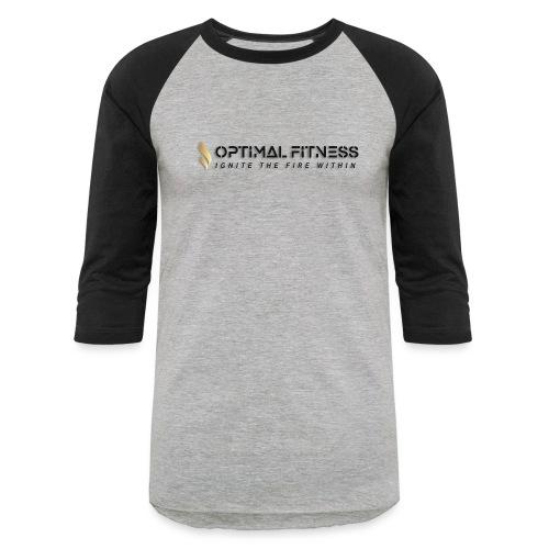 black logo, keep calm and hiit it black - Baseball T-Shirt