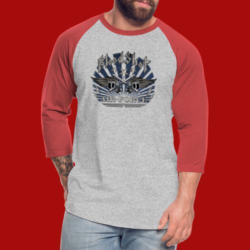 BloodShot Air Force with black - Unisex Baseball T-Shirt