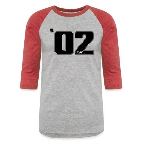 2002 (Black) - Unisex Baseball T-Shirt