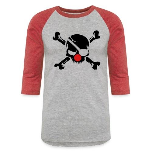 Clown Jolly Roger Pirate - Unisex Baseball T-Shirt