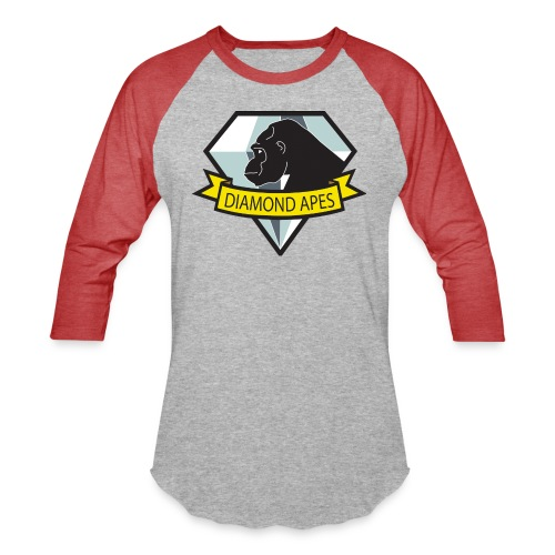diamondape - Unisex Baseball T-Shirt