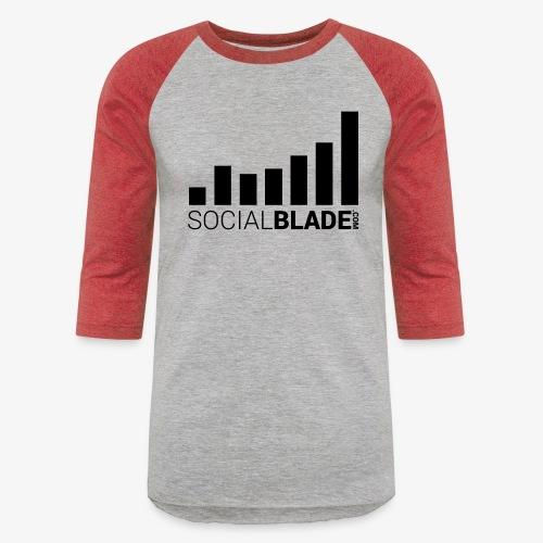 Socialblade (Dark) - Unisex Baseball T-Shirt