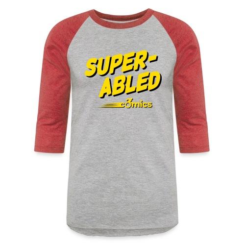 Super-Abled Comics - yellow/black - Baseball T-Shirt