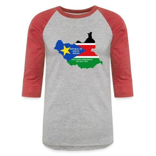 south sudan 10th years anniversary - Unisex Baseball T-Shirt