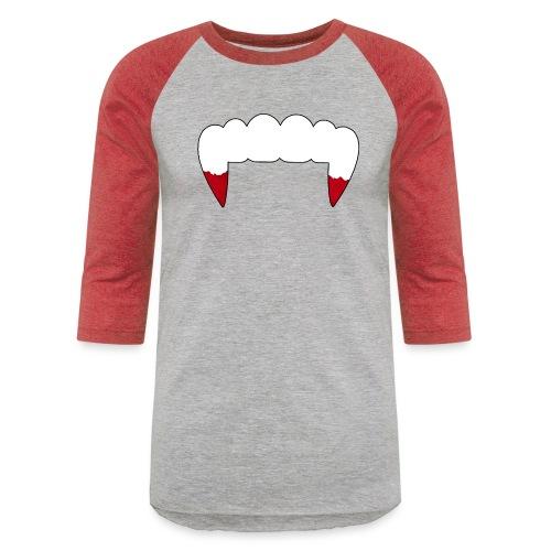 Vampire Fangs - Unisex Baseball T-Shirt