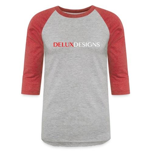 Delux Designs (white) - Unisex Baseball T-Shirt