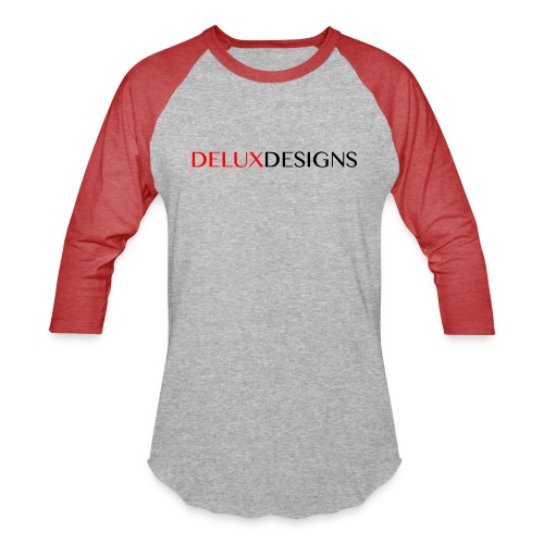 Delux Designs (black) - Unisex Baseball T-Shirt