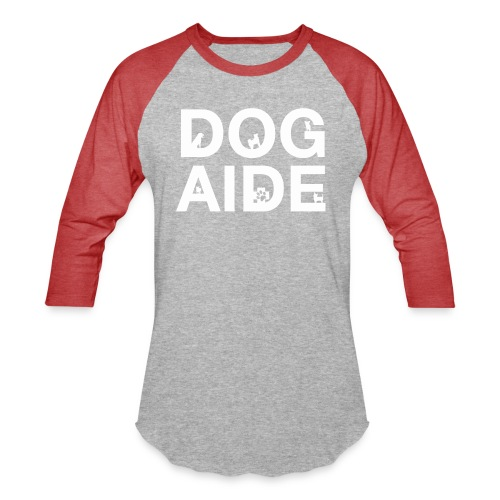 dog aide NEW white - Unisex Baseball T-Shirt
