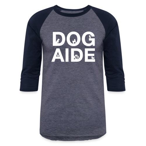 dog aide NEW white - Unisex Baseball T-Shirt