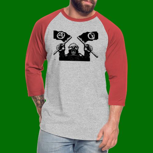 anarchy and peace - Unisex Baseball T-Shirt