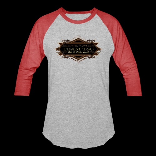 teamTSC badge03 Bar - Unisex Baseball T-Shirt