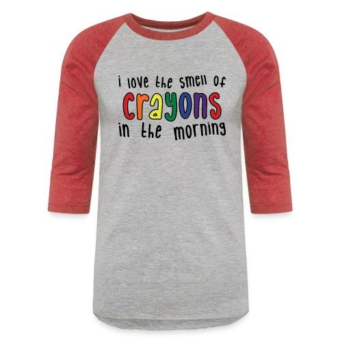 Crayons light - Unisex Baseball T-Shirt