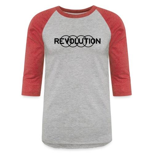 Revolution Black Logo - Unisex Baseball T-Shirt
