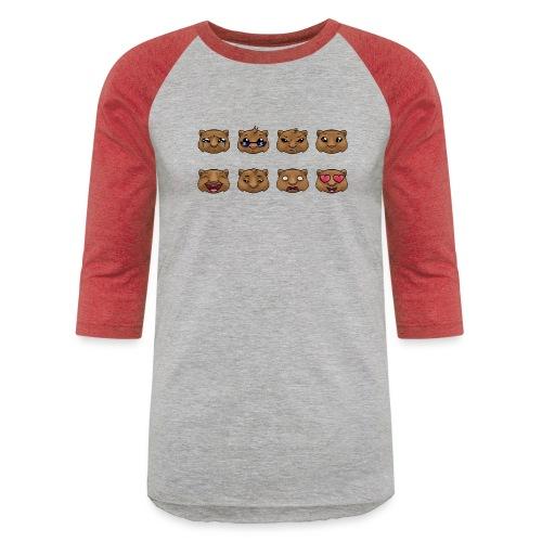 Wombat Feelings - Unisex Baseball T-Shirt