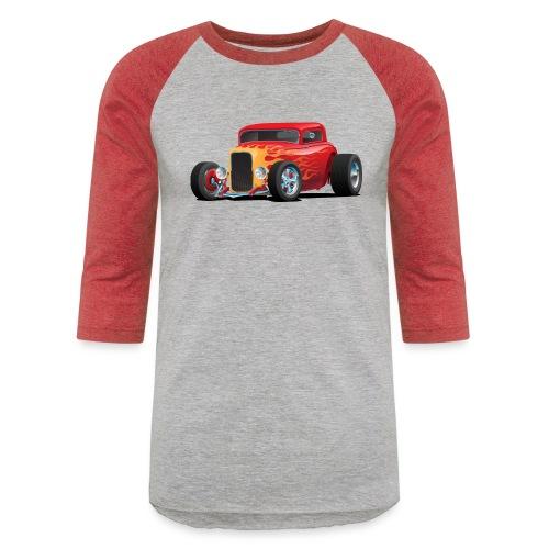 Classic Bold Red Custom Street Rod - Baseball T-Shirt