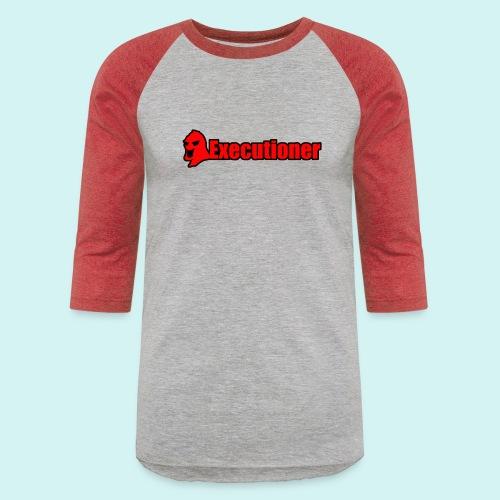 Executioner basic line logo - Unisex Baseball T-Shirt