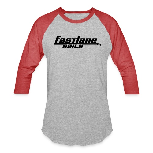 Fast Lane Daily logo - Unisex Baseball T-Shirt