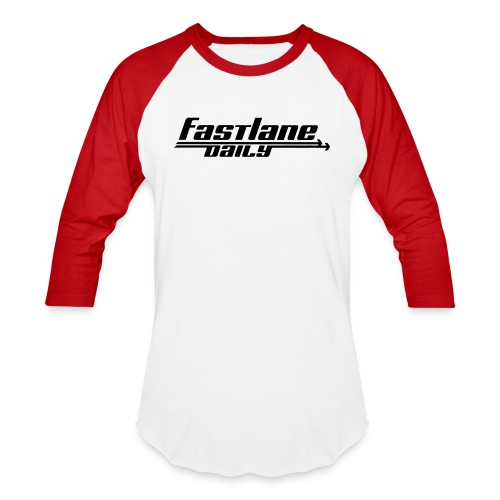 Fast Lane Daily logo - Unisex Baseball T-Shirt