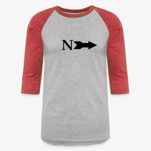 Narrow Logo Black - Unisex Baseball T-Shirt