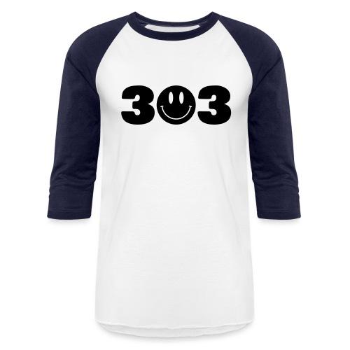 3 Smiley 3 - Baseball T-Shirt
