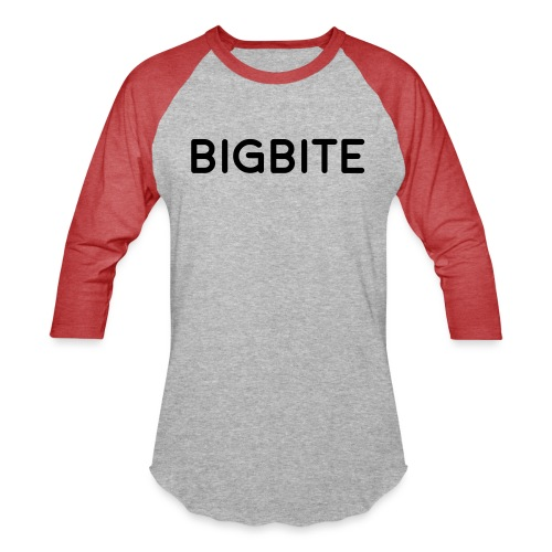 BIGBITE logo red (USE) - Unisex Baseball T-Shirt