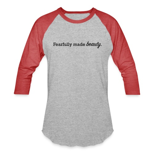 fearfully made beauty - Unisex Baseball T-Shirt