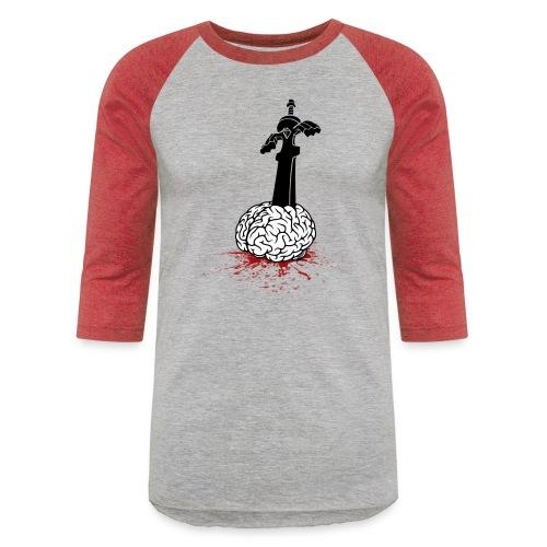 Sword in Brain - Unisex Baseball T-Shirt