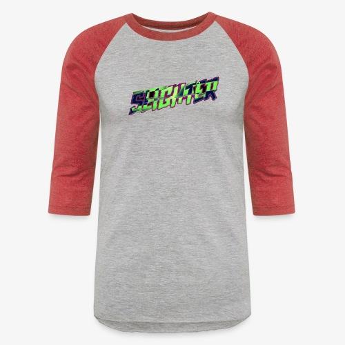 Retro Logo Glitch - Unisex Baseball T-Shirt