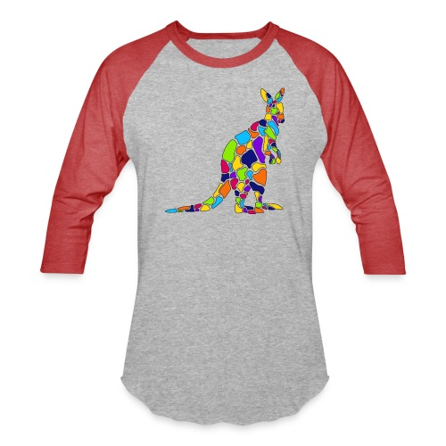 Art Deco kangaroo - Baseball T-Shirt