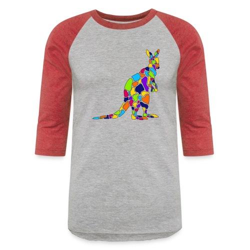 Art Deco kangaroo - Unisex Baseball T-Shirt