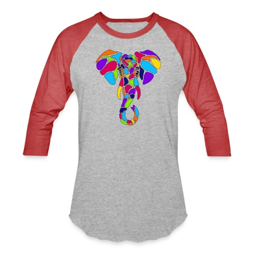 Art Deco elephant - Baseball T-Shirt
