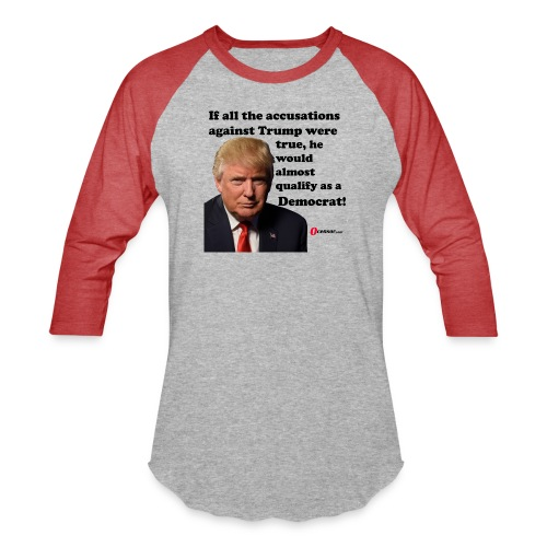 Trump democrat black - Unisex Baseball T-Shirt