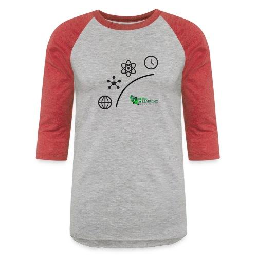 Matter Energy Space Time (Black) - Unisex Baseball T-Shirt