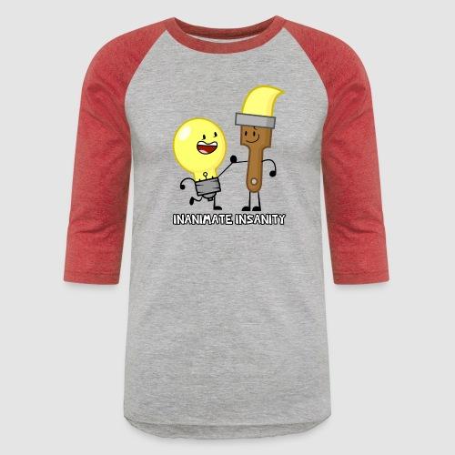 Lightbulb Paintbrush Duo - Unisex Baseball T-Shirt