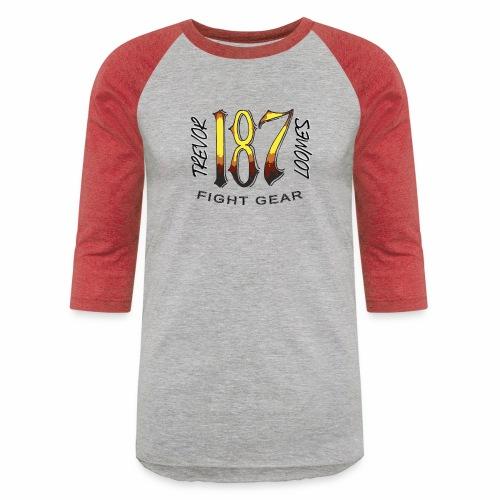 Coloured Trevor Loomes 187 Fight Gear Logo - Baseball T-Shirt