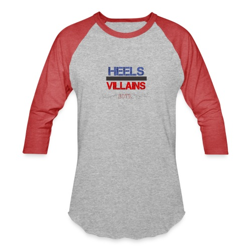 Eyes on the Ring Heels/Villains - Baseball T-Shirt