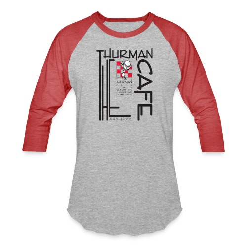 Thurman Cafe Traditional Logo - Unisex Baseball T-Shirt