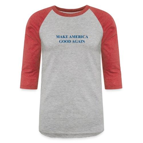 MAGOOA navy blue - Unisex Baseball T-Shirt