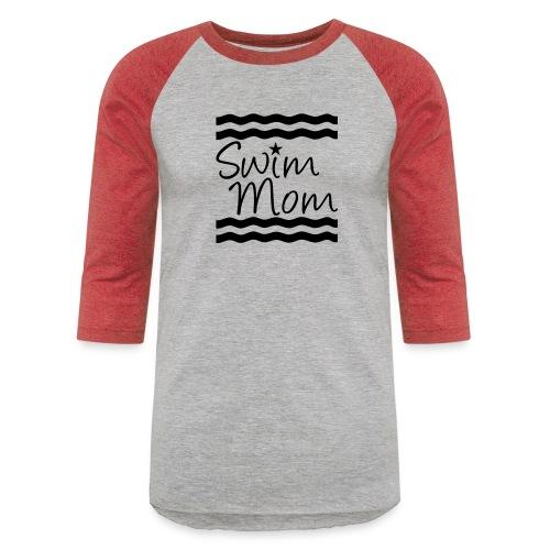 Swim Mom swimming - Baseball T-Shirt
