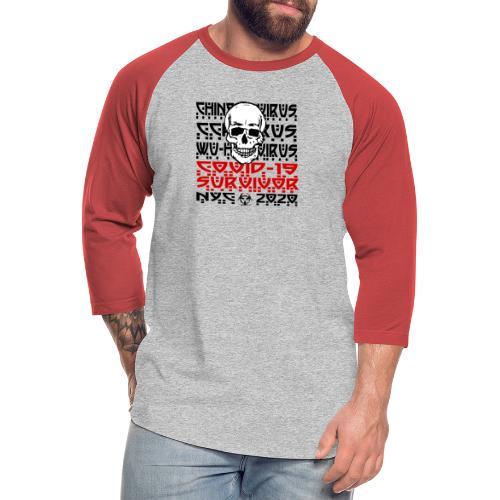 Corona Skull Survivor (NYC) - Unisex Baseball T-Shirt