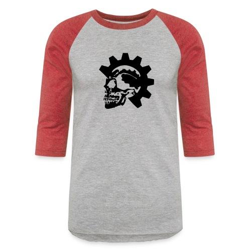 Gearhead Skull - Unisex Baseball T-Shirt