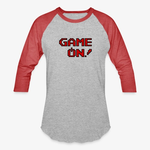 Game On.png - Unisex Baseball T-Shirt