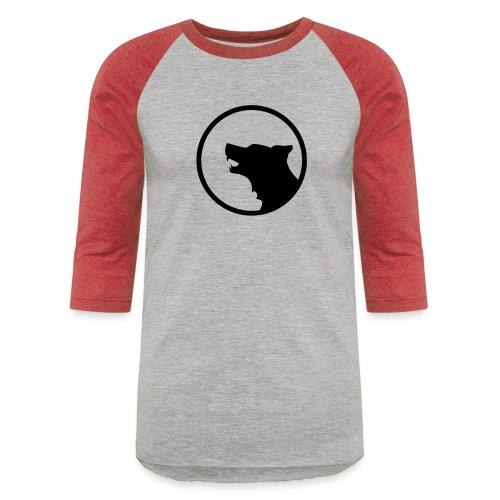 Wolf Silhouette Vector - Baseball T-Shirt