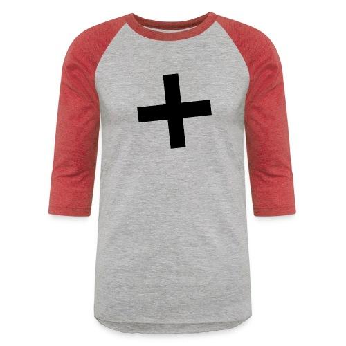 Plus Brandmark Black - Unisex Baseball T-Shirt
