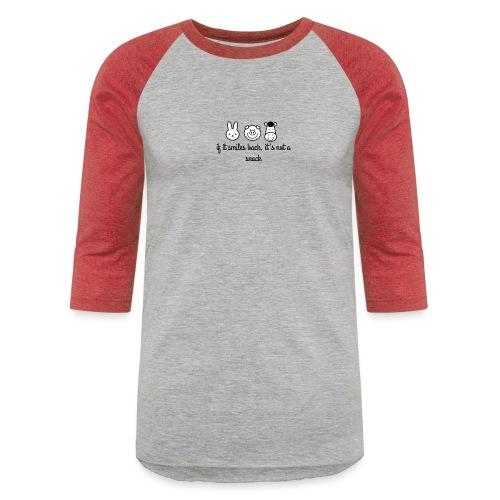 SMILE BACK - Unisex Baseball T-Shirt