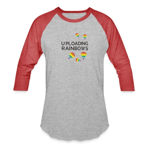 Hey! It's all about colors... Enjoy the Rainbow - Unisex Baseball T-Shirt