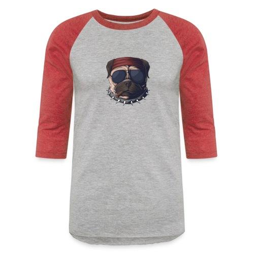 Dog head smoke - Unisex Baseball T-Shirt
