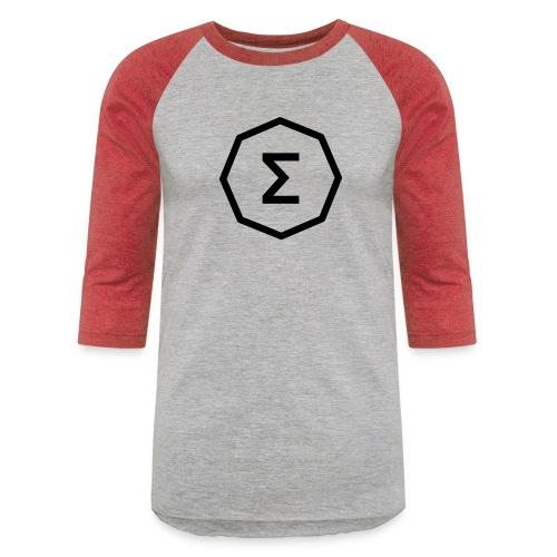 Ergo Symbol White - Unisex Baseball T-Shirt