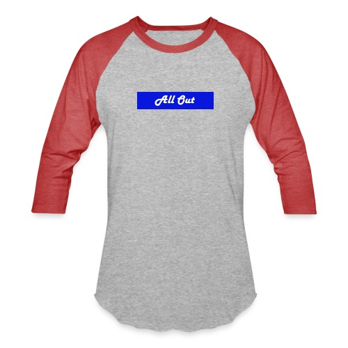 All out - Unisex Baseball T-Shirt